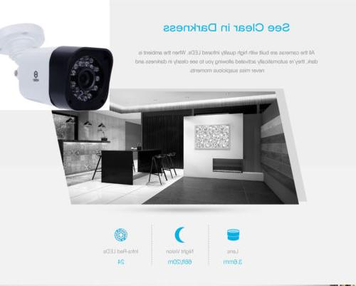 8CH DVR IR CCTV Security