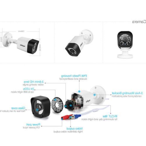 8CH 1080N CCTV Camera Security