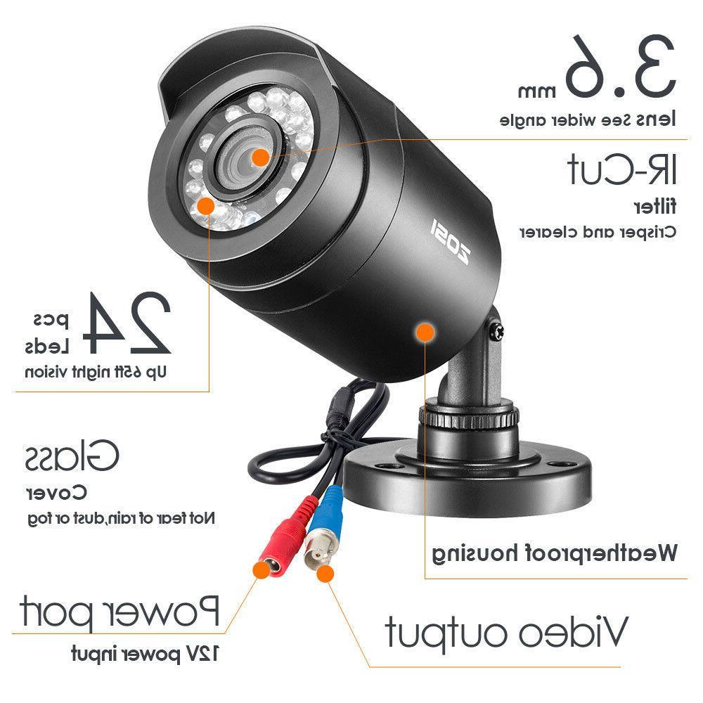 ZOSI 8CH DVR 720p CCTV Home Camera
