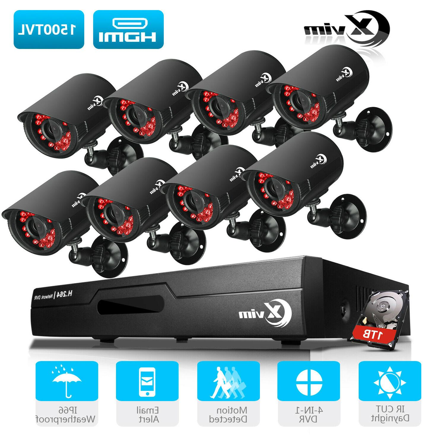 8ch dvr 1500tvl night vision