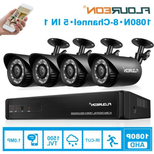 8 CCTV AHD DVR 1500TVL Home Video Recorder Security System