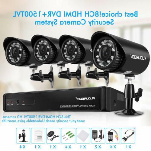 8 1080N AHD DVR 1500TVL Video System