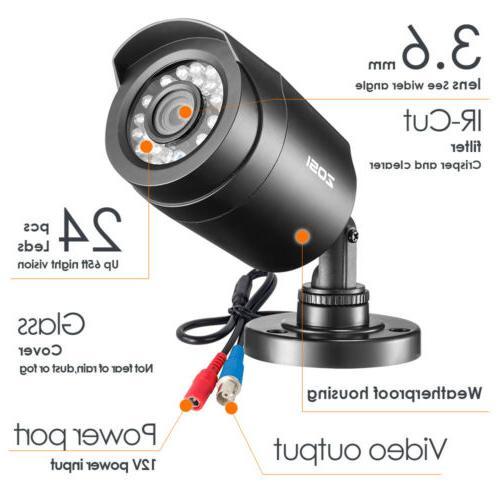 ZOSI 1080N DVR Home Camera 2 Bullet Cameras