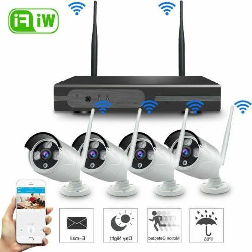 8CH Wireless HDMI NVR Outdoor IP WIFI IR Camera CCTV Home Se