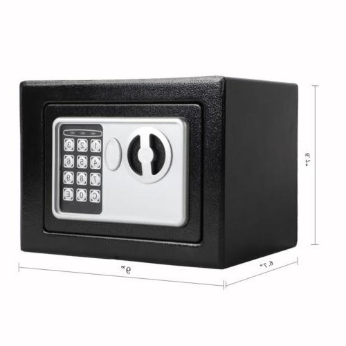 """9"""" Electronic Digital Safe Box Security Office Safety"""