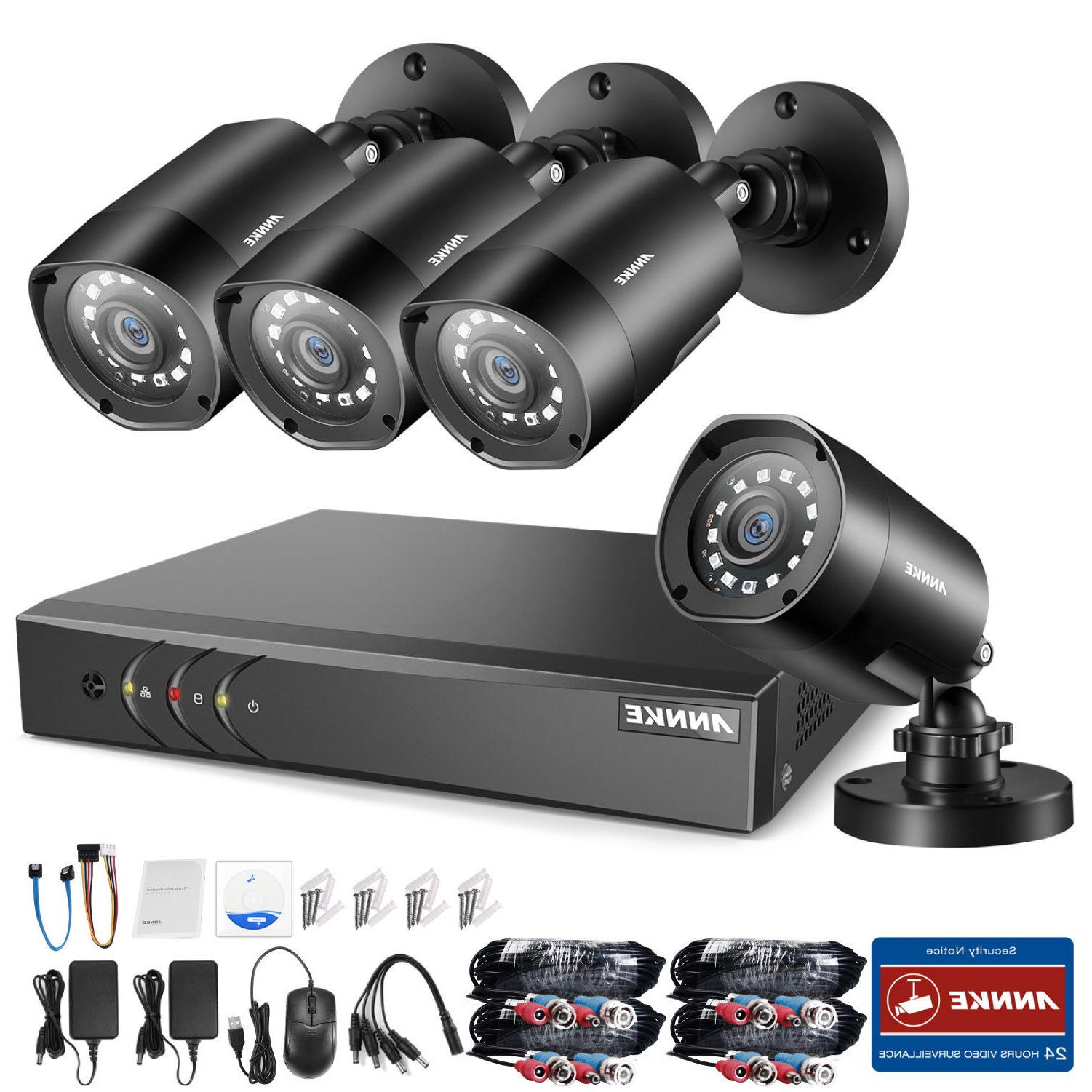 ANNKE 8CH 1080P Lite DVR 4x 2MP 2000TVL IR CUT CCTV Home Sec