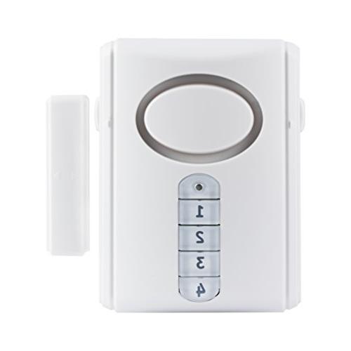 GE Deluxe Wireless Door Alarm, 120 Decibel, Alarm or Entry C
