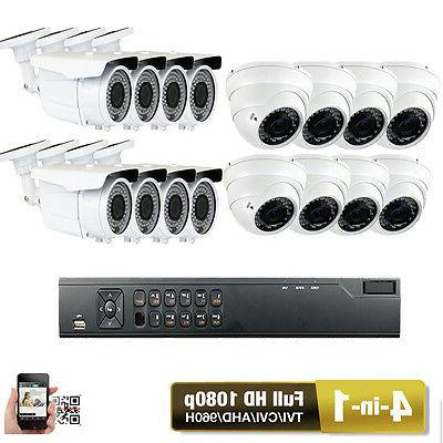 High Definifition 16ch DVR 4-in-1 HDTVI 1080P 2.6MP Security