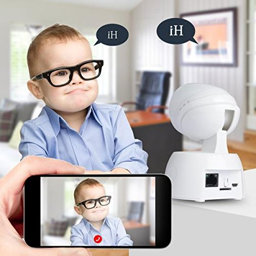 JOOAN Wireless Security Camera WiFi IP Camera Indoor for Baby Way Audio/Night Detection