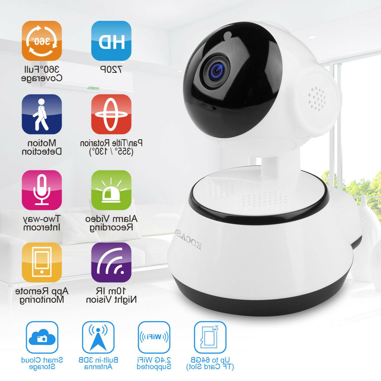 Wireless 720P Pan Tilt Network Home CCTV IP Camera IR Night