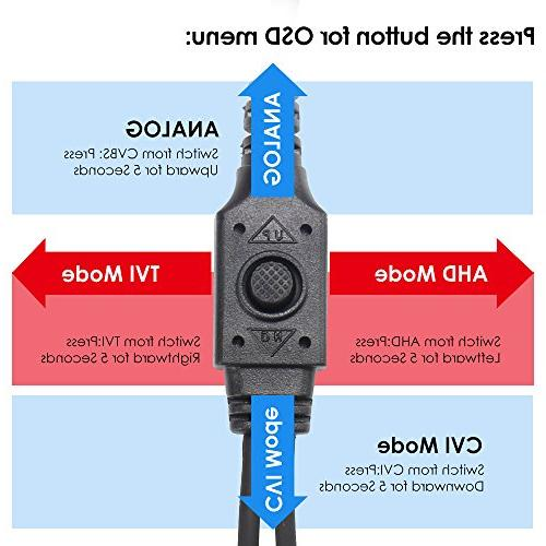 ZOSI HD Hybrid TVI/CVI/AHD/960H Home Security Camera Aluminum For and CVBS/960H DVR