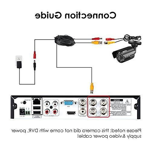 ZOSI 720P Hybrid 4-in-1 CCTV 24PCS Home Security Waterproof Camera For HD-TVI, AHD, CVI, and CVBS/960H