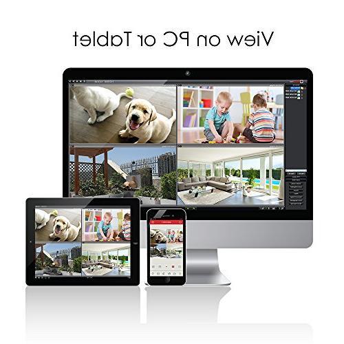 HD-TVI CCTV Hard Drive + 2.0MP 1920TVL Weatherproof Security System, PC Remote Access