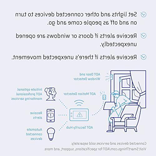 Samsung SmartThings Wireless Home Security Starter Kit with DIY System Hub, Door Window Sensors, Motion Detector -
