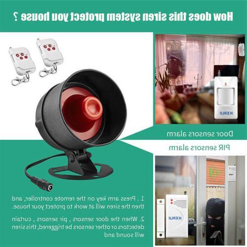 Anti-theft Siren Home Security System Door