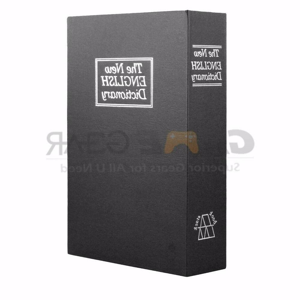 black small home security dictionary book safe