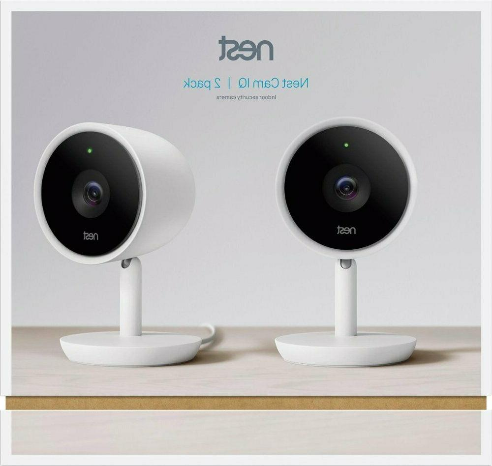 Google - Nest Cam IQ Indoor Full HD Wi-Fi Home Security 2-Pa