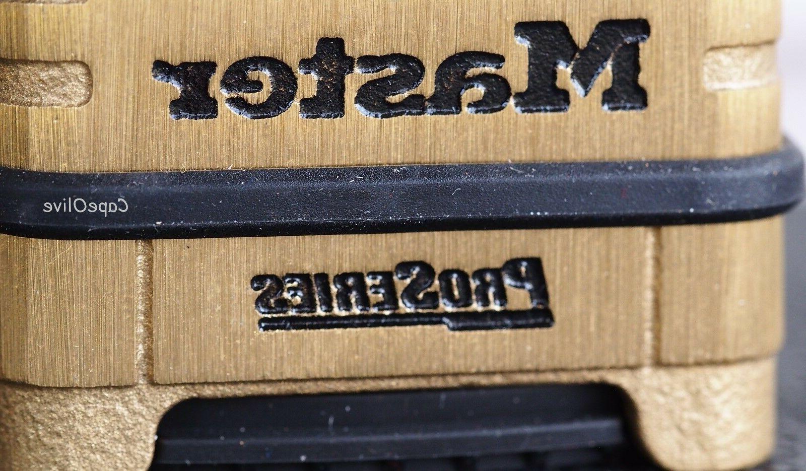 MASTER LOCK Padlock, Bottom, 4 Dial, Brass 1177