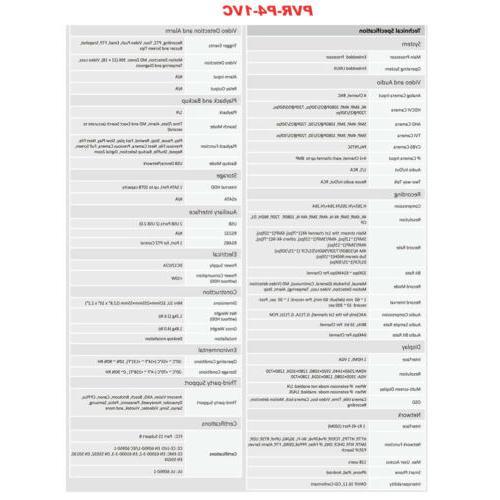 Dahua OEM DVR Security 4x 2MP Bullet 1TB HDD
