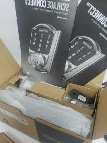 Schlage Deadbolt Alarm Wifi Bronze Security
