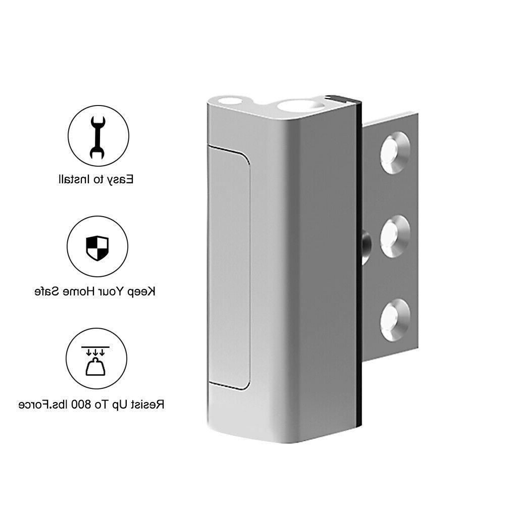 Home Security Defender Security U Reinforcement Lock Silver,Easy Install