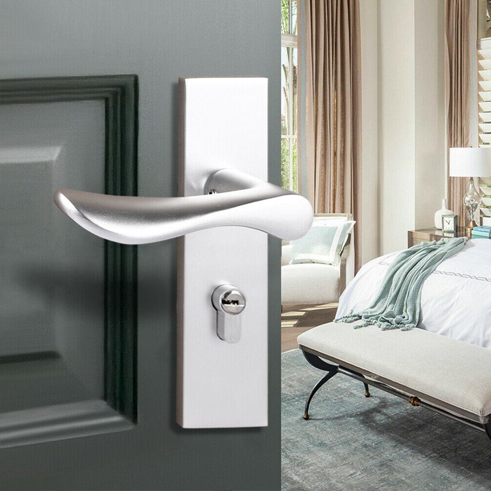 Door Locking Handle Door Hardware Sliver/Black
