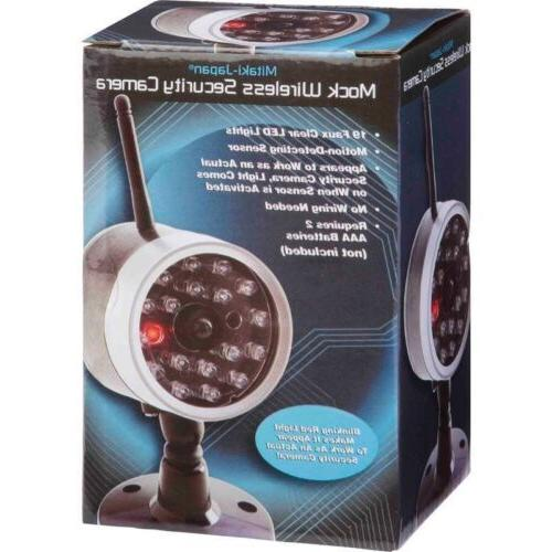 Dummy SECURITY CAMERA Motion Activated Light Power System