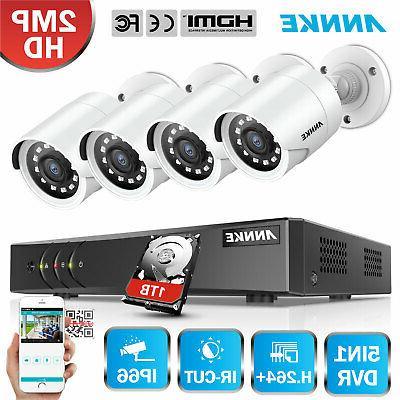 ANNKE 8 Channel 1080N DVR 1800TVL CCTV IR Security Camera Sy