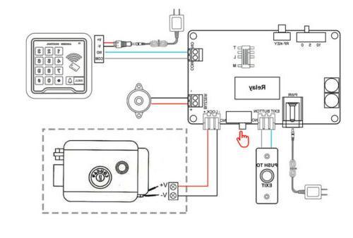Electric Door Lock Wireless Remote Control Mode