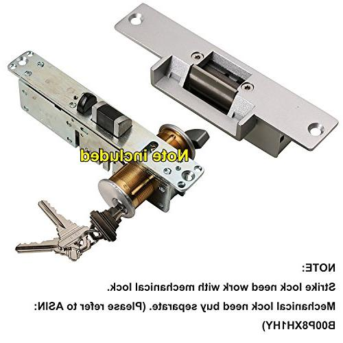 UHPPOTE Electric Fail Secure Part Wood Metal Door