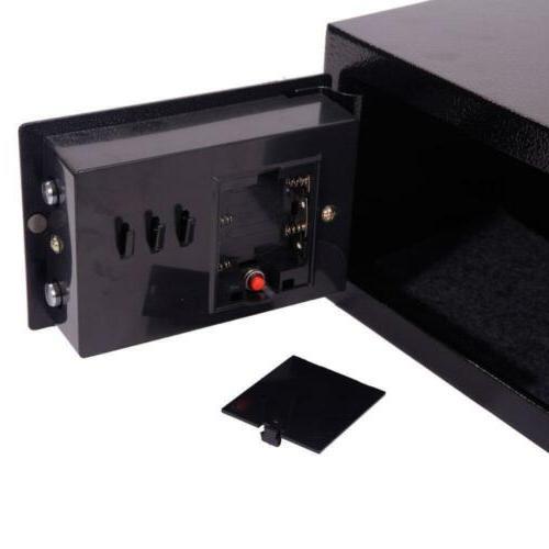 Electronic Safety Box Jewelry Black Money