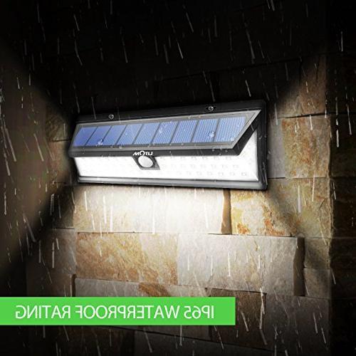 LITOM Version Lights Super Plating Solar Lights with Motion Solar Security Wall Lights Yard, Garage,