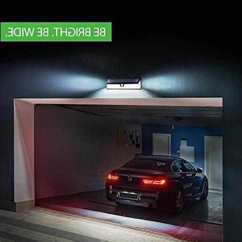 Lights Outdoor, 54 Super Bright Lights with Solar Powered Security Lights Front