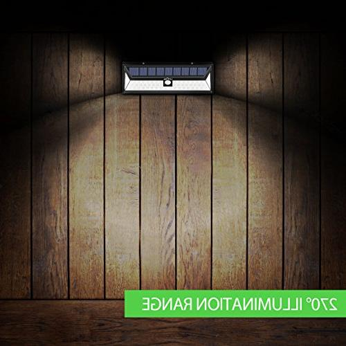 LITOM Enhanced Version Solar Lights Outdoor, Super Solar Lights Solar Powered Security Wall Lights for Door, Yard,