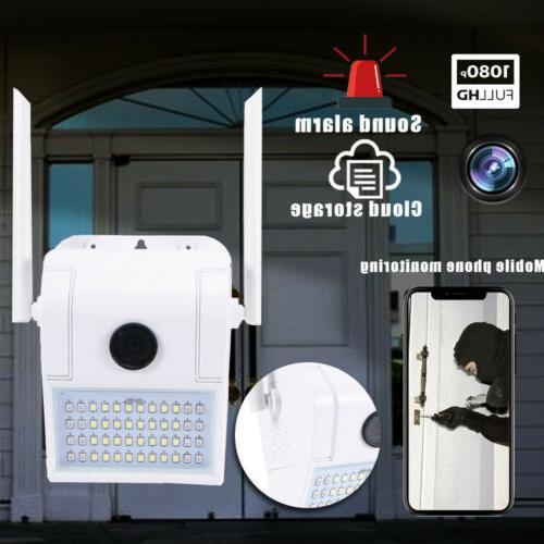 Floodlight Camera 1080p WiFi Security HD 1080P 160° View Ho