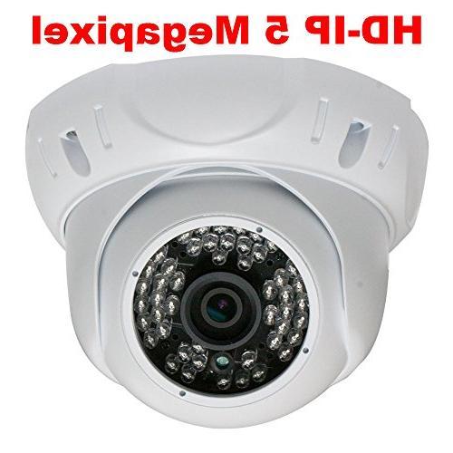 GW 8CH NVR IP Camera PoE 5MP Surveillance System - HD 1920P Weatherproof Outdoor/Indoor