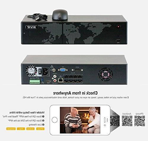 GW NVR IP Camera PoE 5MP - HD Outdoor/Indoor Dome