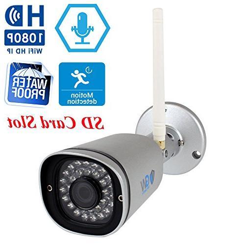 GW 9 Security 4 Video Outdoor/Indoor Wireless Built-In Microphone, IR Night