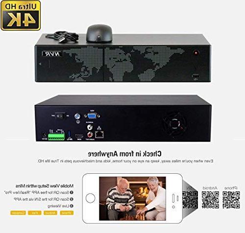 GW Channel UltraHD Audio Video Zoom Home NVR 8 x Bullet Megapixel 2.8-8mm 3X Optical Zoom PoE Cameras