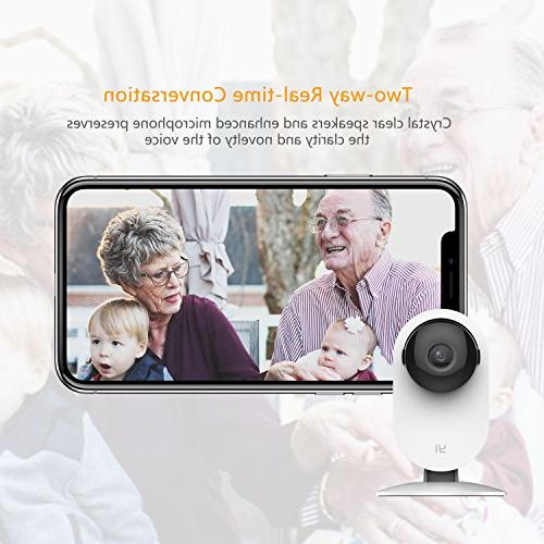 YI Home Camera Wireless Camera Night Vision Activity Detection Alert Monitor, iOS, Android App Cloud Service