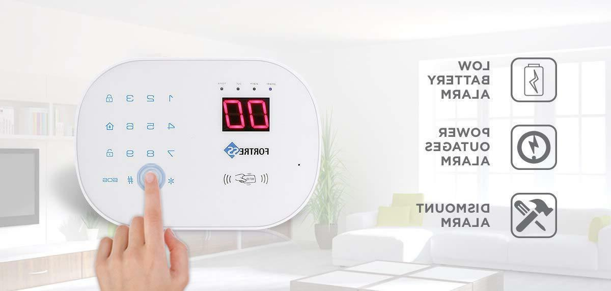 Home Business WiFi Landline Security Alarm Kit Wireless