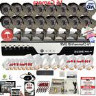 16 Channel HD Home CCTV Outdoor Security System Set/16Pcs 10