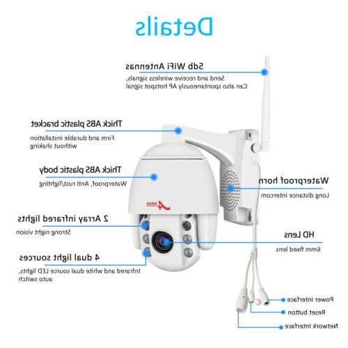 ANRAN Security System Wireless CCTV 2Way Audio Outdoor