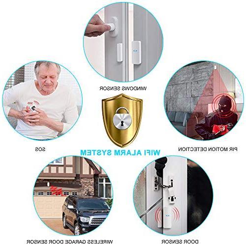 Home Alarm Home with Alarm Siren, Doorbell, Motion Door Sensor, with iOS&Android