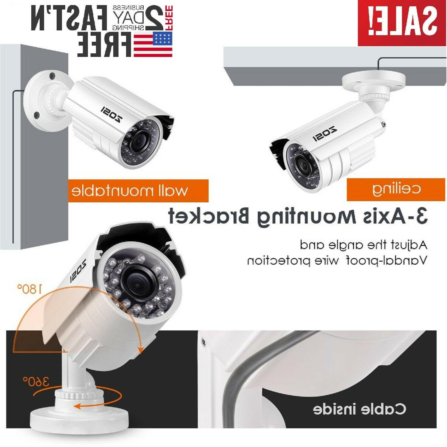 Home Surveillance Security Video Camera System 960H Day Nigh