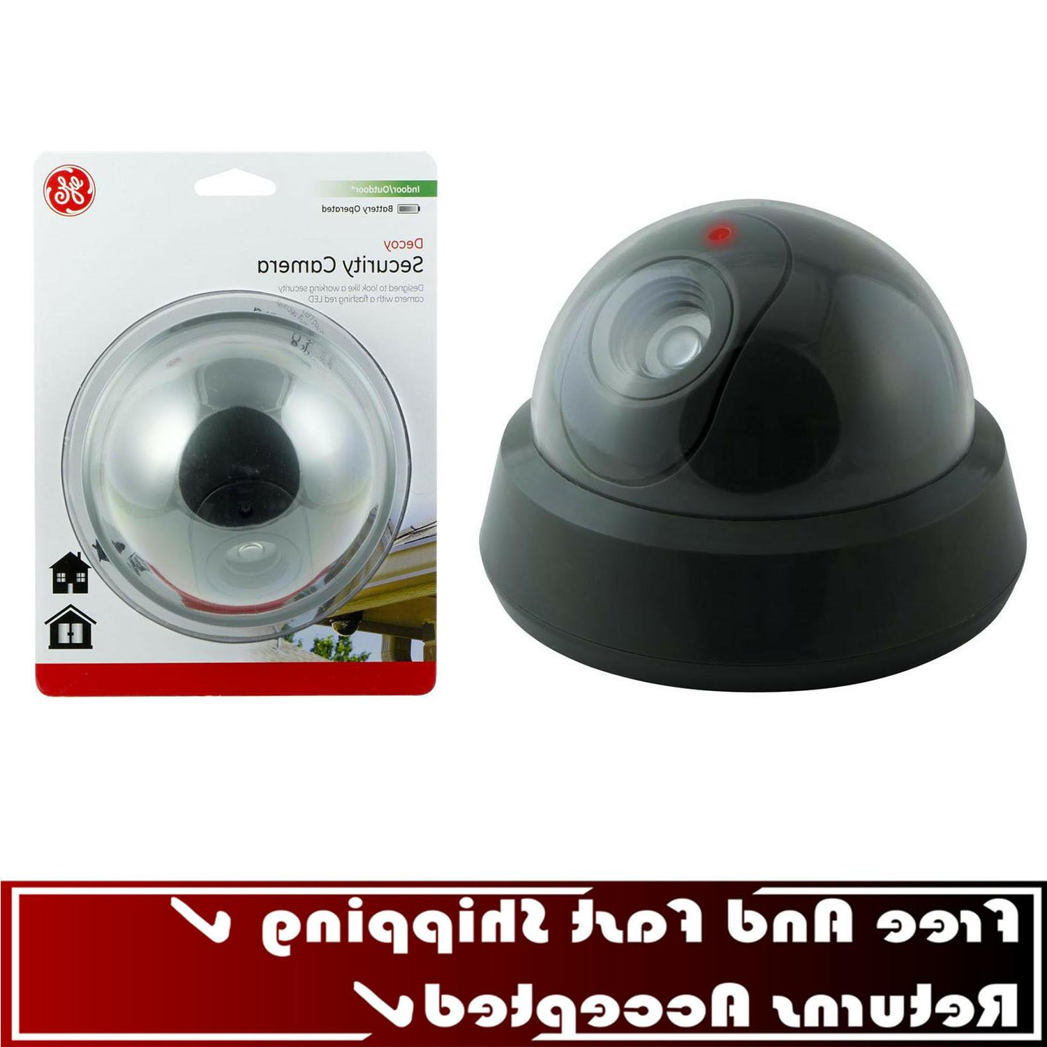 interior exterior simulated security camera home safety