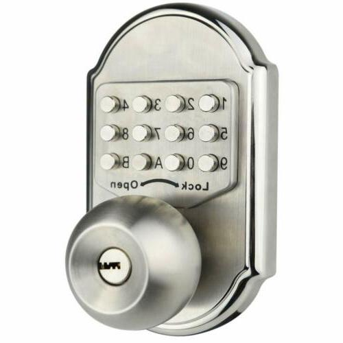 New Deadbolt Keys Code Entry Lock Knob Privacy