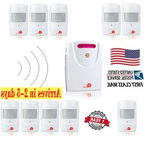 led 328ft wireless driveway alarm system motion