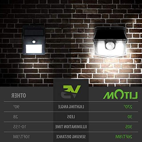 Solar Lights Outdoor, Wireless Easy Sensor Light with Wide Angle, IP65 Solar Security Light Front Door, Garden, Patio, Deck-4