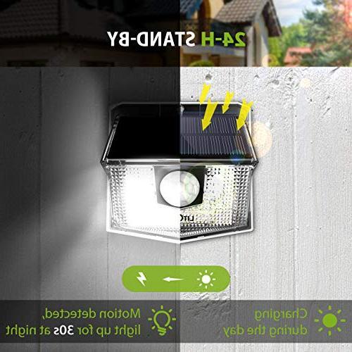 LITOM Easy Install Motion Sensor 270° Wide Angle, Solar Security Front Door, Yard, Garden,